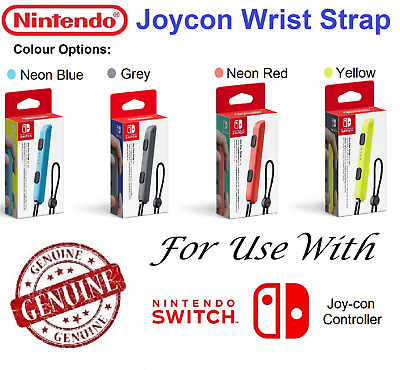 Wriststrap Wrist Strap Nintendo Switch Joycon Controller Grey Yellow Blue Red