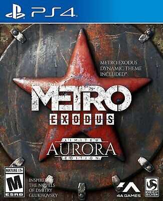 Metro Exodus Limited Aurora Edition Steelbook Art +More Sony Playstation 4 PS4