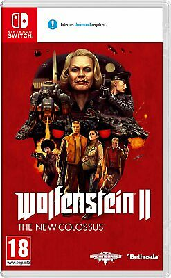 Wolfenstein 2 II The New Colossus FPS Fantasy Shooter RPG Game Nintendo Switch