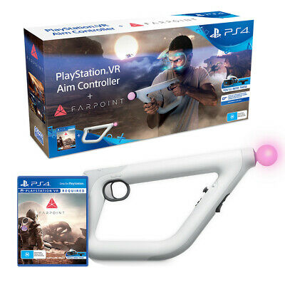 Farpoint Shooter Game + PS VR Aim Gun Controller Bundle Sony PS4 Playstation 4