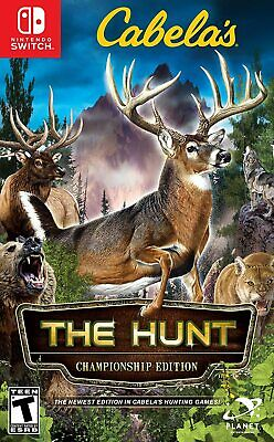 Cabelas The Hunt Championship Edition Big Game Hunting Shooter Nintendo Switch