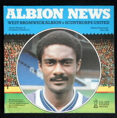 West Bromwich Albion v Scunthorpe United    FA Cup 4th Round       21-1-1984