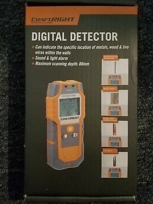 CRAFTRIGHT Digital Detector-Location of Metals,Wood&Live Wires Within the Walls