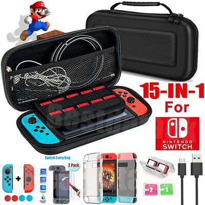 For Nintendo Switch Travel Carrying Case Bag Screen Protector Cover Full Kit AU
