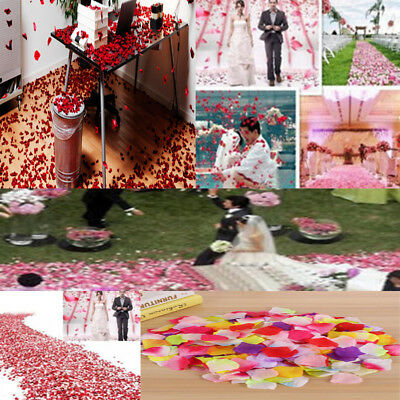 1000Pcs Fake Silk Rose Flower Petals Wedding Party Table Confetti Home Decor _vi