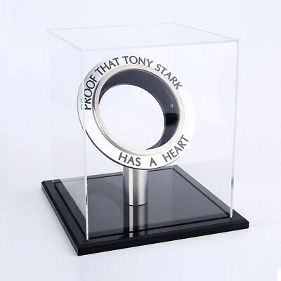 Marvel Avengers Iron Man Arc Reactor Black Acrylic Display Box Case Men Kid Gift
