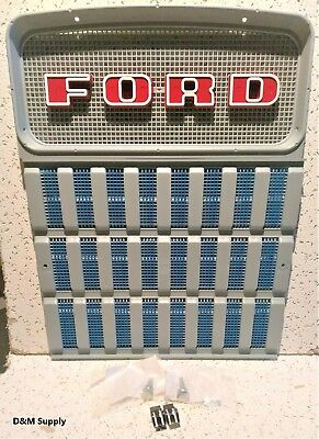 Ford Tractor Front Grill Set with Mounting Hardware 2000 3000 4000 3400 2300 +