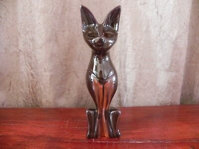 Huronia Pottery Sphynx Cat Black & Orange Made in Canada
