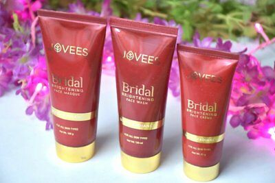 Jovees Bridal Brightening  Face Masque | Face Cream | Face wash set - Free ship