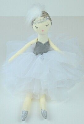 Prima Ballerina Doll in Silver and White