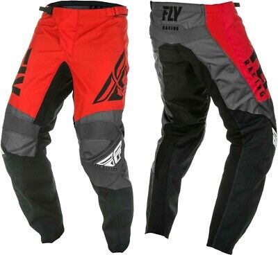 2019 Fly Racing F-16 F16 Red Black Grey MX Motocross Offroad MX Pants Adults