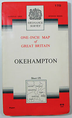 1965 Old Vintage OS Ordnance Survey Seventh Series One-Inch Map 175 Okehampton
