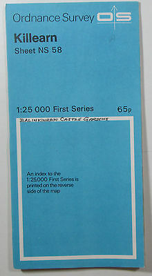 1960 old vintage OS Ordnance Survey 1:25000 First Series Map NS 58 Killearn
