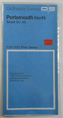 1978 old vintage OS Ordnance Survey 1:25000 First Series map SU 60 Portsmouth N