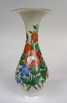 Vase Opaline Glass 19 Century Frosted Beinglas