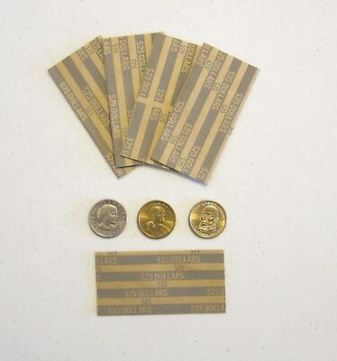 40 Presidential Dollars Coin Wrappers  Sacagawea Dollar Paper Coin Wrapper
