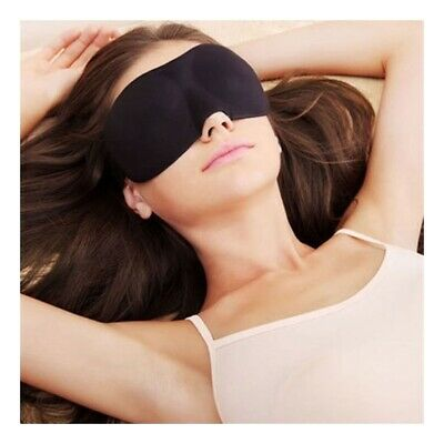3D Soft Padded Blindfold Blackout Eye Mask Travel Rest Sleep Aid Shade Cover SUB