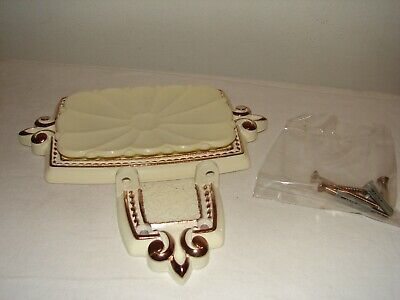 Vintage Regency Amerock Bonaventure Antique Style Wall Mount Soap Dish NOS