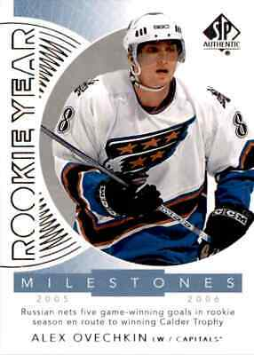 2017-18 Upper Deck SP Authentic Rookie Year Milestones Alex Ovechkin #RYM-AO