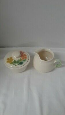 Vintage Franciscan Ware Sugar and Creamer in Floral Pattern