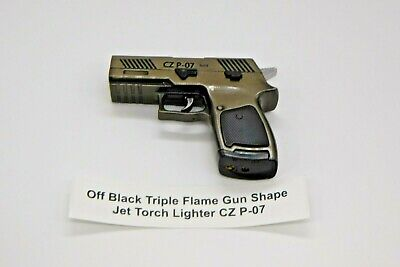 Triple Flame Gun Shape Jet Torch Lighter Choice Of 3 Colors USA Stocked