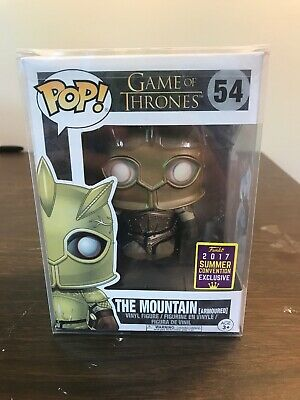 Funko Pop The Mountain Armored Game of Thrones #54 2017 SDCC Exclusive New