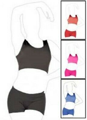 Kids Girl Hot NYLON ELASTIC Sexy Crop Top Or Shorts --Quality Fabric Comfy Wear.