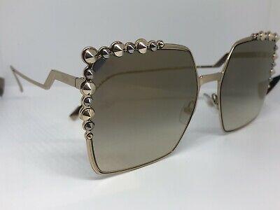 16d101fa FENDI CAN EYE FF 0259/S GOLD/GOLD GREY SHADED women AUTHENTIC ...