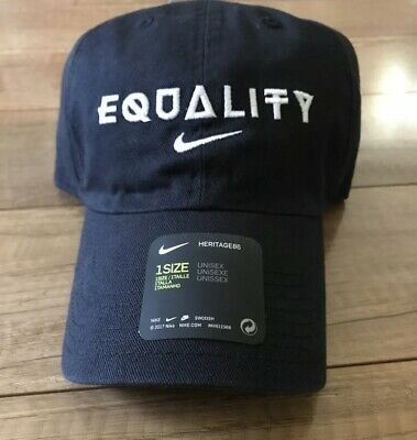 f81f391e NIKE EQUALITY ADJUSTABLE Hat Black Gold One Size AH6314 010 NEW ...