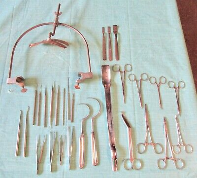 Vtg Lot Head Skull Clamp Rest + Medical Tools Surgical Instruments Supplies