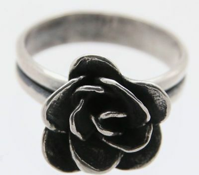 Silpada NEW Peace Sign .925 Sterling Silver Ring Size 6 R2004 HTF Cute