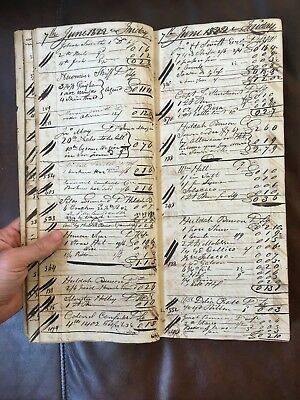 1822 Ledger from Mills & Mansfield General Store: Kent, CT (Rare, Americana)
