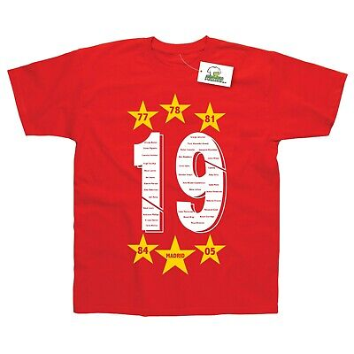Liverpool 6th Time Champions of Europe 2019 T-Shirt Adult and Kids