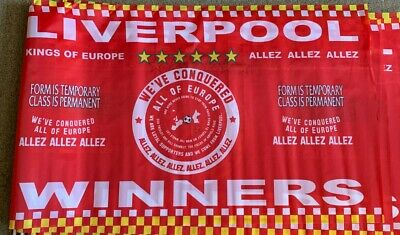 Champions League Winners Liverpool Flag Champions League Final Madrid 2019