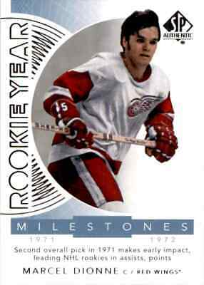 2017-18 Upper Deck SP Authentic rookie year Milestones Marcel Dionne #RYM-MD