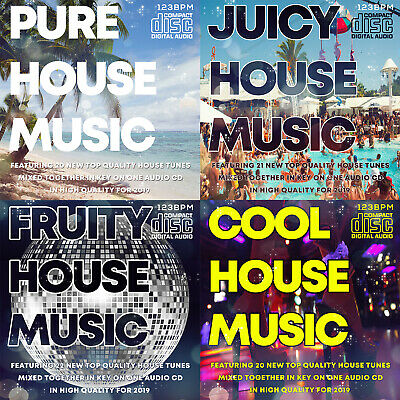 NEW HOUSE MUSIC CDs 4 DJ mixed CD PACK COLLECTION 2019 THE BEST NEW CLUB TUNES