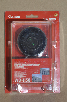 Canon WD-H58 Wide Converter Camcorder Lens (0.7x) 58mm thread NEW mfr# 3572B001