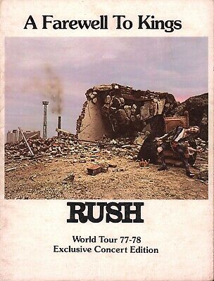 Rush 1977 / 1978 A Farewell To Kings World Tour Concert Program Book / Geddy Lee