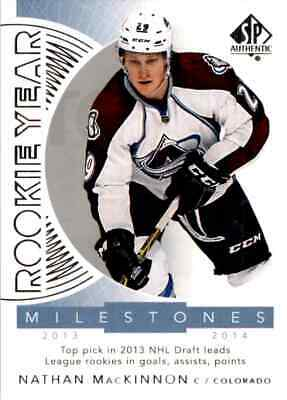 2017-18 Upper Deck SP Authentic Rookie Year Milestones Nathan MacKinnon #RYM-NM