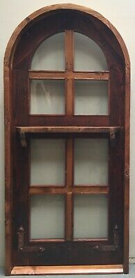 Rustic reclaimed lumber arched top door Dutch U give dimensions Pre hung