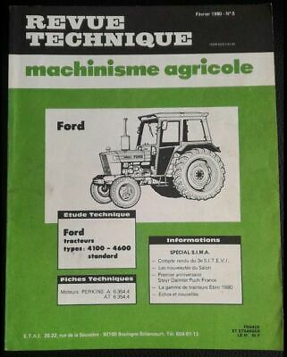 Revue Technique Tracteur Ford 4100 4600 Moteurs Perkins A 6354.4 - At 6354.4
