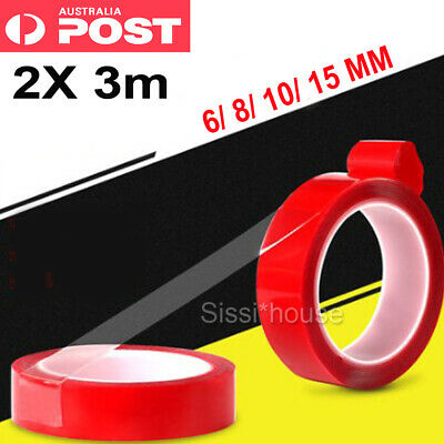 Double-sided Clear Acrylic Foam Adhesive Tape Roll Heat Resistant Strong Sticky