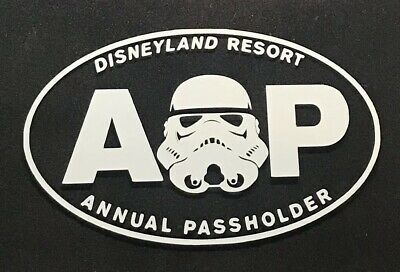 Disney Disneyland AP Annual Passholder Car Decal/Sticker -Star Wars Stormtrooper