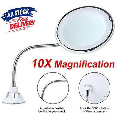 Flexible Cosmetic BO 10x Mag Flexi With Bendable Neck Makeup Mirror Illuminated