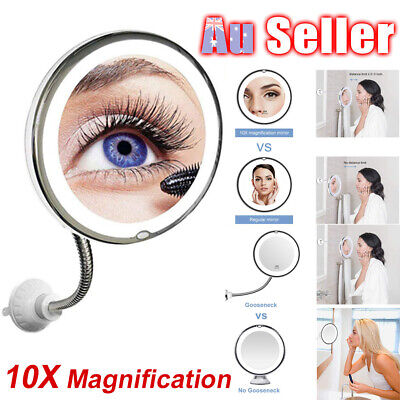 Flexible Illuminated BO Makeup Mirror Cosmetic Flexi With Bendable Neck 10x Mag