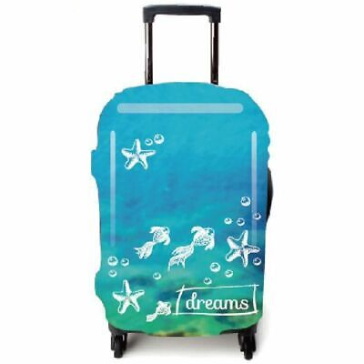 Cute Fish Pattern Luggage Suitcase Cover Trolley Protects Dust Bags Case Storage