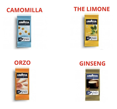 100 lavazza espresso point orzo ginseng the te limone camomilla cialde caffe MIX