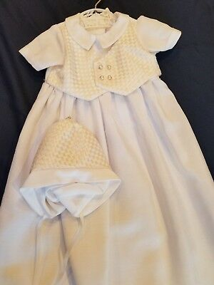 d71ea7dec5a5 Handmade Baby Boys Heirloom Christening Baptism Gown with Bonnet