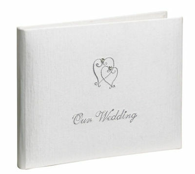 'Our Wedding' Guest Book - Satin Finish - 60 Plain Pages