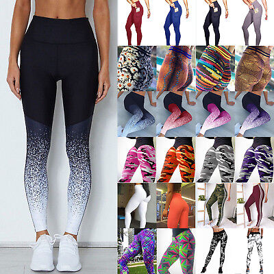 Womens Athletic Gym Yoga Activewear Fitness Running Leggings Pants Trousers